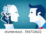 humans vs robots. concept... | Shutterstock .eps vector #556713622