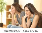 angry friends or roommates... | Shutterstock . vector #556717216