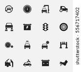 set of 16 editable transport... | Shutterstock .eps vector #556717402