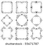 decorative frames | Shutterstock .eps vector #55671787