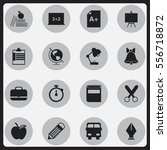 set of 16 editable education... | Shutterstock . vector #556718872