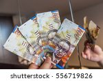 new israeli shekel   israel's... | Shutterstock . vector #556719826