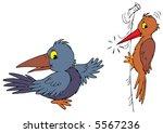 raven and woodpecker | Shutterstock .eps vector #5567236