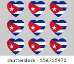 heart with the flag of cuba. i... | Shutterstock .eps vector #556725472