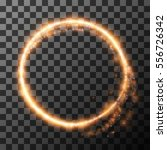light circle from fire on... | Shutterstock .eps vector #556726342