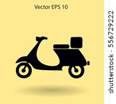 flat moped icon. vector | Shutterstock .eps vector #556729222