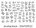 big set of 57 black and white... | Shutterstock .eps vector #556735912