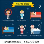 various tips for good sleep... | Shutterstock .eps vector #556739425