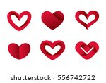 heart shapes collection design... | Shutterstock .eps vector #556742722