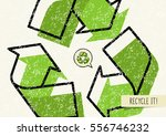 recycle it vector poster.... | Shutterstock .eps vector #556746232
