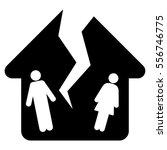 divorce house glyph icon. flat... | Shutterstock . vector #556746775