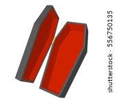casket or coffin icon. cartoon... | Shutterstock .eps vector #556750135