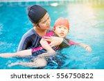 beautiful young asian woman... | Shutterstock . vector #556750822