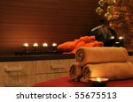 wellness and spa concept with... | Shutterstock . vector #55675513