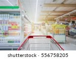 supermarket aisle with empty... | Shutterstock . vector #556758205