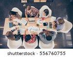 top view of start up... | Shutterstock . vector #556760755