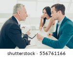 successful lawyer showing new... | Shutterstock . vector #556761166