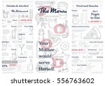 restaurant or cafe menu vintage ... | Shutterstock .eps vector #556763602