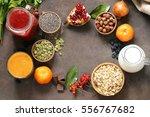 still life super food  ... | Shutterstock . vector #556767682