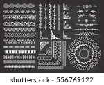 set of border  brush  frame ... | Shutterstock .eps vector #556769122