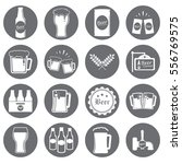 beer icons set.vector... | Shutterstock .eps vector #556769575