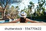asian women in luxury near home ... | Shutterstock . vector #556770622