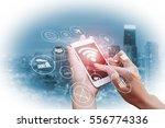 double exposure of businessman... | Shutterstock . vector #556774336