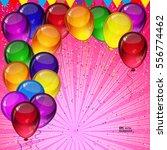 birthday party vector... | Shutterstock .eps vector #556774462