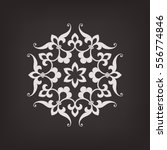 circular abstract floral...   Shutterstock .eps vector #556774846