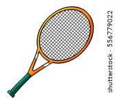 funny orange tennis racket with ...   Shutterstock .eps vector #556779022