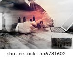 double exposure of justice and... | Shutterstock . vector #556781602