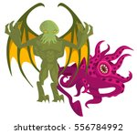 cthulthu octopus winged evil...