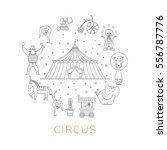 circus collection with carnival ... | Shutterstock .eps vector #556787776