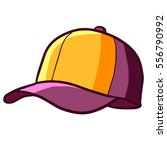 cool and funny yellow purple... | Shutterstock .eps vector #556790992