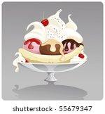 banana split | Shutterstock .eps vector #55679347
