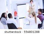 businessman giving a... | Shutterstock . vector #556801288