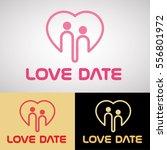 love date logo design for... | Shutterstock .eps vector #556801972