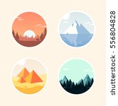 set of landscape icon. vector... | Shutterstock .eps vector #556804828