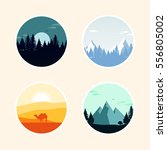 set of landscape icon. vector... | Shutterstock .eps vector #556805002