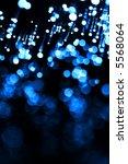 Beautiful blue fiber optic abstract background - stock photo