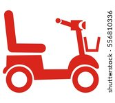 scooter  red vector icon | Shutterstock .eps vector #556810336