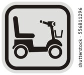 scooter  black vector icon ... | Shutterstock .eps vector #556811296