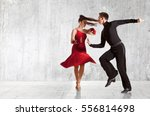 dance beautiful couple dancing...   Shutterstock . vector #556814698