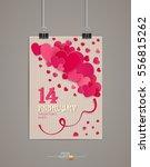 festive background valentine's... | Shutterstock .eps vector #556815262