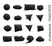 shape set black icons | Shutterstock .eps vector #556815955