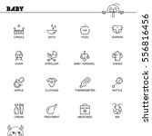 baby flat icon set. collection... | Shutterstock .eps vector #556816456