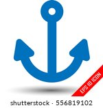 anchor icon. simple picture of...