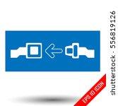 seat belt icon. seat belt flat... | Shutterstock .eps vector #556819126