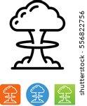 mushroom cloud symbol | Shutterstock .eps vector #556822756