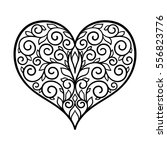 adult coloring page  vector ... | Shutterstock .eps vector #556823776